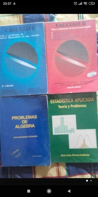 Libros cálculo álgebra estadística ingeniería