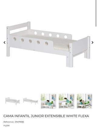 Cama y colchón junior extensible white Flexa