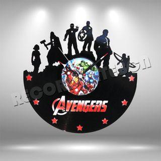 Reloj de Disco LP de Avengers