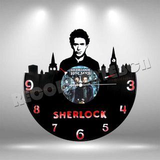 Reloj de Disco LP de Sherlock Holmes
