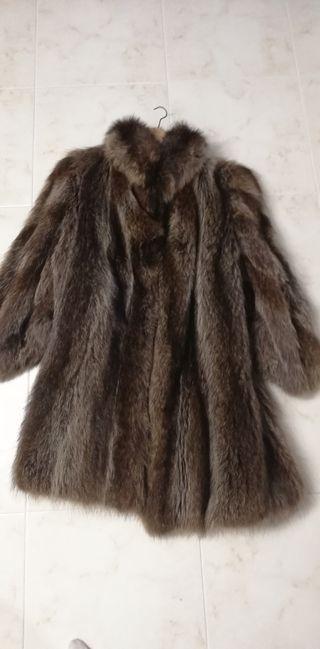 Abrigo piel de Nutria XL