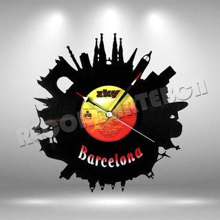 Reloj de Disco LP de Barcelona
