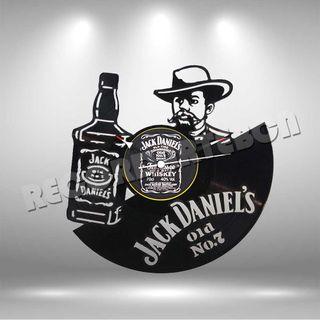 Reloj de Disco LP de Jack Daniels