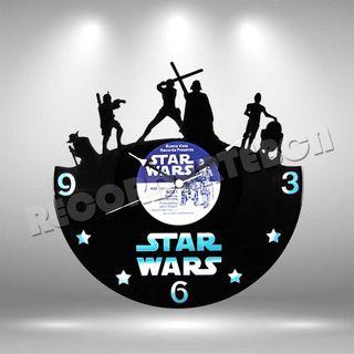 Reloj de Disco LP de Star Wars