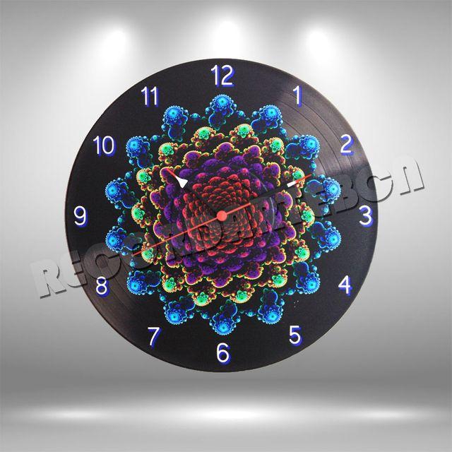 Reloj de Disco LP Fractal