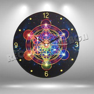 Reloj de Disco LP de Geometria Sagrada