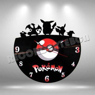 Reloj de Disco LP de Pokemon