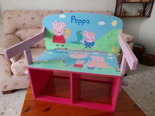 Banco-pupitre Peppa Pig