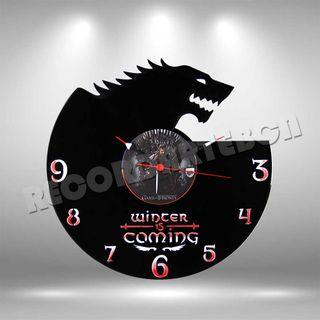Reloj de Disco LP de Juego de Tronos