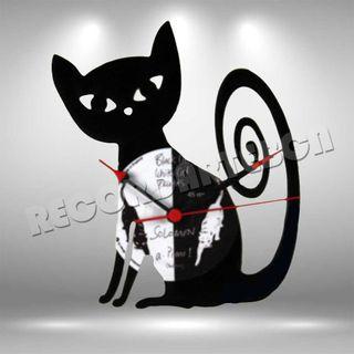 Reloj de Disco LP de Gato