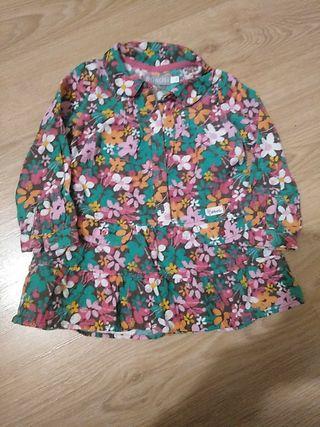 Camisa Boboli de pana niña 2 años