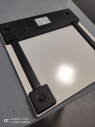 bascula peso cristal blanco