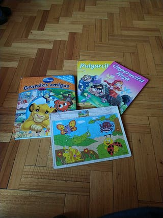 LOTE CUENTOS + PUZZLE MADERA+PELUCHES