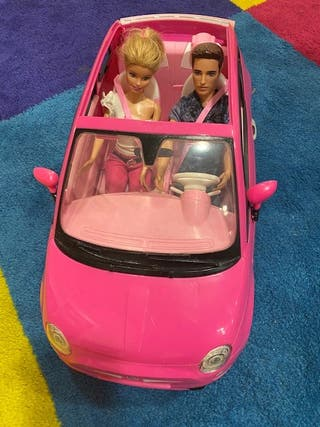Coche FIAT 500 Mattel + BARBIE + KEN