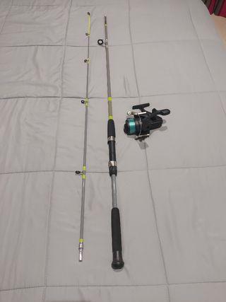 caña de pesca maciza de 2 tramos de 2,20