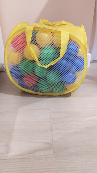 Bolsa bolas de plástico 5€ cada una, 22€ 5bolsas