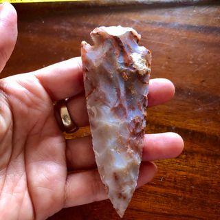 10cm Neolithic Flint Knapped Arrowhead