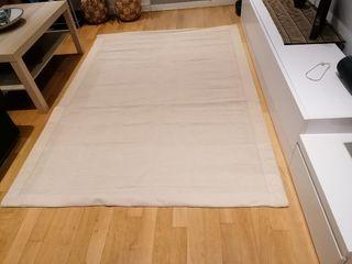 Alfombra beige 140 x 200 cm