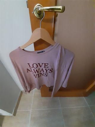 camiseta malva