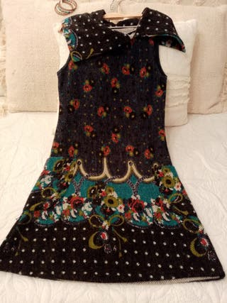 vestido de invierno estampado