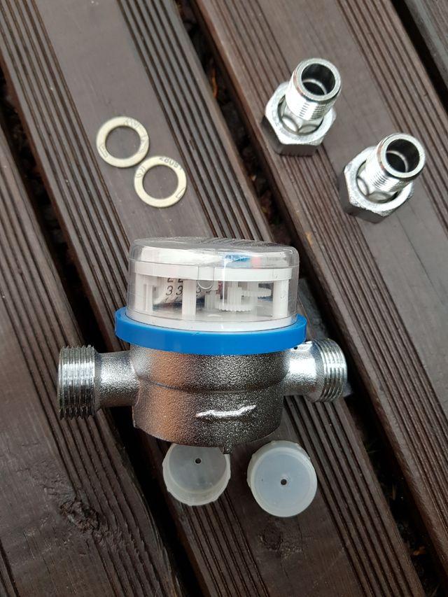 Contador agua fría S. Hidráulica 2 racor 1/2 pulg.