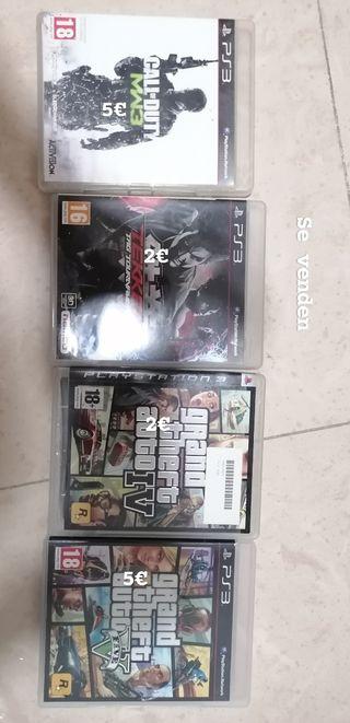 se venden juegos de play 3