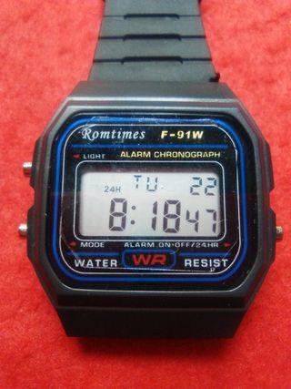 Reloj digital tipo Casio F-91