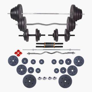Set de pesas y mancuernas 120 kg