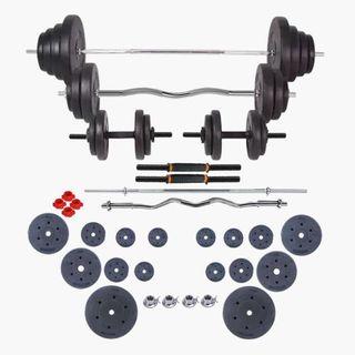 Set de pesas y mancuernas 90 kg