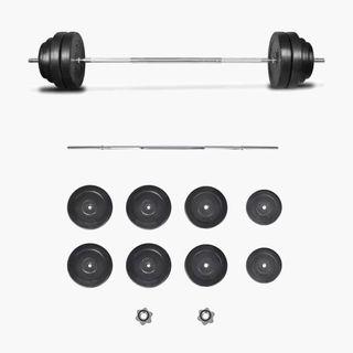 Set de pesas con barra recta 60kg