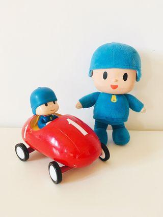 Peluche y coche de carreras Pocoyo