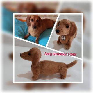 Perro amigurumi para Nancy. Réplicas de mascotas.