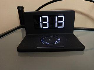 Reloj despertador digital, cargador incorporado