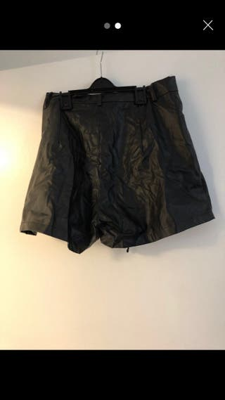 PLT- Leather Corset Shorts