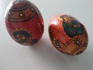 huevos pascua ruso policromados