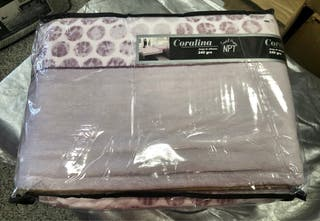 Juego de sabanas de Coralina 240gr violeta
