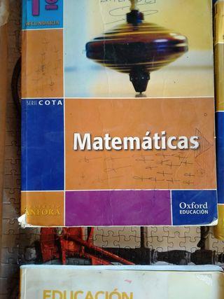 libro matemáticas 1 secundaria ( Oxford Educación)