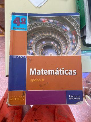 Libro matemáticas 4° Secundaria y 1 Bachiller