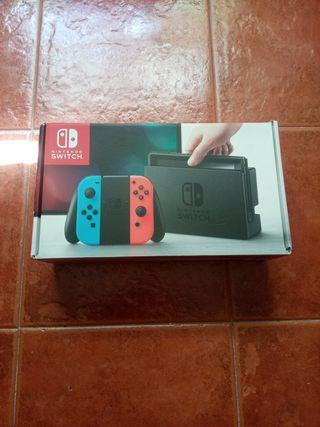 caja de la nintendo switch