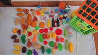100 piezas de comida de juguete