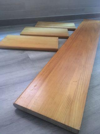 Baldas macizas de madera de pino