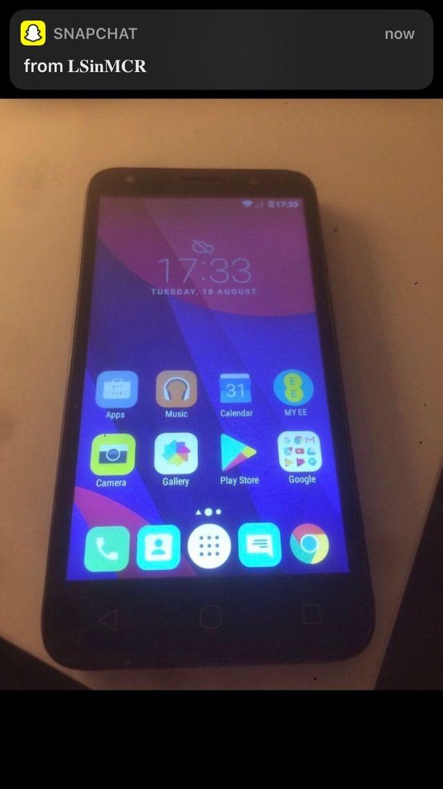 Alcatel pixie 4 smart phone