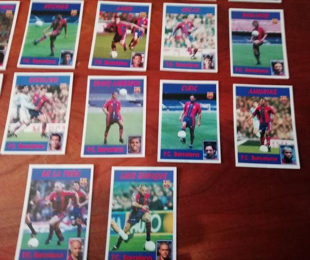 CROMOS REAL MADRID LIGA 97/98. LOTE DE 17 CROMOS