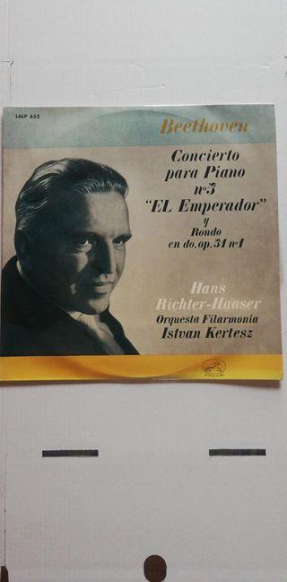 Disco vinilo Beethoven Concierto para piano nº5