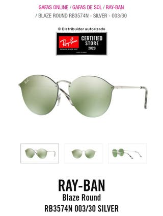 RAY-BAN BLAZE ROUND 3574N 003/30