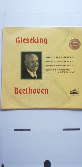 Disco vinilo Beethoven Gieseking