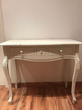 mueble consola tocador vintage restaurado