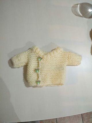 chaqueta de lana para muñecos