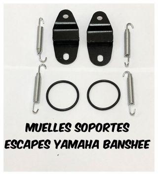 Soportes muelles escapes yamaha banshee