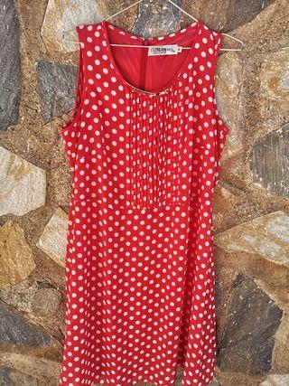 Vestido rojo topitos Olimara